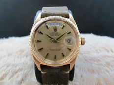 1956 ROLEX DAY-DATE 6611 18K PINK GOLD WITH CLAW MARKERS DIAL