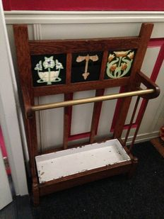 Art Nouveau umbrella holder & coat rack