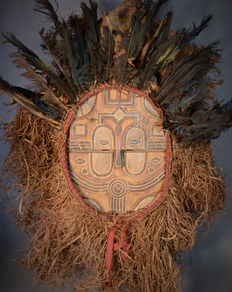 Exceptional African Tribal TÉKÉ Kidumu Mask from the Tsaayi group. Democratic Republic of the Congo.