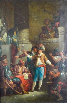 Follower of Antonio Diziani. (1737-1797) - Guard room revellers
