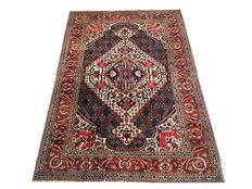 Superb Persian carpet: Bakhtiar 206 x 138 cm circa 1930!