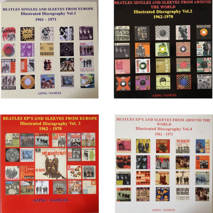 The Beatles Complete Set Of Four Illustrated Discographies With Singles And Sleeves From Europe & - Ideal X-Mas Gift - A Must For Every Beatle Collector ! - Multiple titles - Livres - 2005/2010