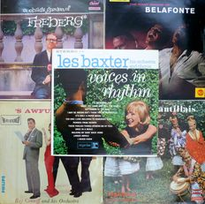 "Exotica, Latin, Jazz, Vocal, etc. - Lot of 25 albums and 25 7"" singles and EP's (various labels 1957-1967) - various countries of press"