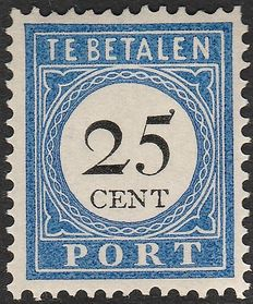 The Netherlands 1894 – Postage due stamps, black number and value – NVPH P26
