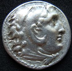 Greek Antiquity - Kings of Macedon. AR Drachm of Alexander the Great (336-323 BC). Posthumously struck, c. 310-275 BC. Uncertain mint in Greece or Macedon