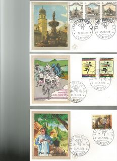 """Lot of 203 First Day Covers (FDC) – Various countries: Italy, Vatican, Switzerland, Colombia – From 1960 to 1998 – """"Filigrano Gold"""" and """"Rome"""" series"""