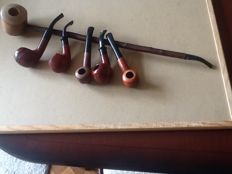 6 wooden tobacco pipes, never used.