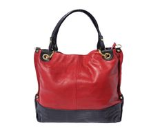 Handbag with double handles, in soft calfskin - Tuscany Leather