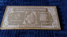 Disney, Walt - Gold-plated Bar - Scrooge McDuck - One Dollar (1990s)