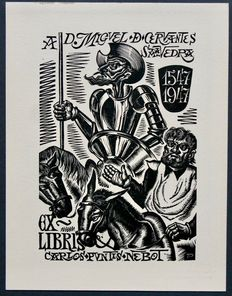 Ex-libris; Lot with 18 Spanish ex-libris from the years 1910-1949