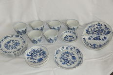 20 piece onion pattern Stamped Blue Danube