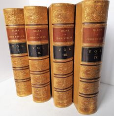 William Bray - Diary of John Evelyn - Four Volumes - 1879.