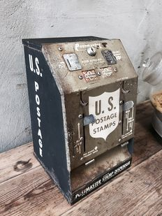 US postage, stamp wall dispenser, 1950s