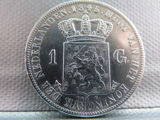 Netherlands – 1 guilder 1845a Willem II – silver