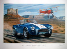 Ac Cobra & Boeing Stearman - Art Print - Paper 300 g, varnish anti-UV