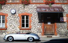 "Poster -Porsche 356 Speedster ""Train Station in the Country"" Photo: Nina-Maria Oetker"