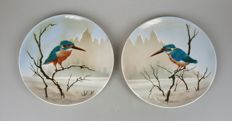 Henri Verstijnen for Société Céramique - Two plates with kingfishers