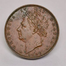 United Kingdom - Farthing 1826 George IV