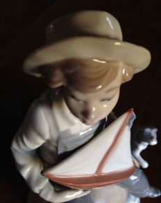 "Lladro figurine #5166 - vintage gres sculpture ""Sea Fever"" - 1982"