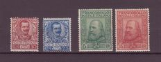 Kingdom of Italy 1901/10 – Small selection of 'Floreale' and 'Garibaldi'