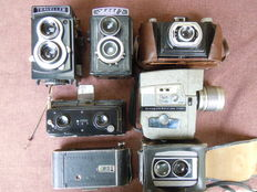 Batch of 6 cameras and 1 old camera -1900/1970
