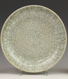 Antique Ge Yao saucer dish - China- 18 / 19th century.