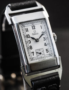Omega-Drivers-Rectangular-Men's-Extremely rare-1930/40's