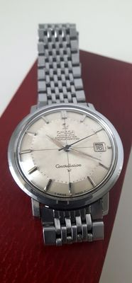 Omega Constellation Crosshair Pie Pan Hidden Crown Date – 168.004 men's watch – from around 1960.