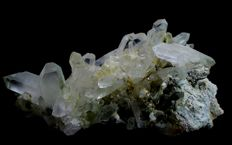 Large Terminated Green Chlorite included Quartz Crystal Cluster -  160 x 84 x72 mm - 812gm