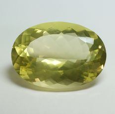 Citrine, greenish-yellow - 35.94ct - No reserve