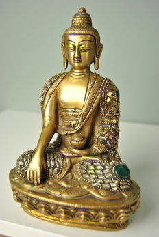 Bronze Buddha - Nepal - late 20th century.