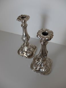 Set of silver candlesticks, Austria-Hungary, 1852