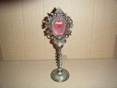 Antique relic of St Pasquale - metal and other materials