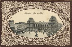 Belgium, railways, 66 x - Stations, trains, and trams of the larger cities - 1900/1925