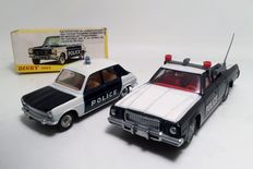 Dinky Toys-ES/GB - Scale 1/36-1/43 - Plymouth Police Car No.244 and Simca 1100 Police No.1450
