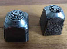 Two antique French factory stamps for jewellery making - ca. 1900 - France