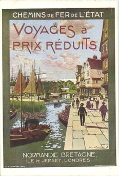 Poster-Art, posters of various French locations 22 x-different Illustrators-1910/1920