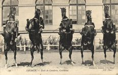 Equine horse riding school Samur 54 x-images of various artful dressage-1900/1920