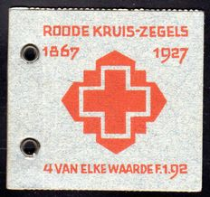The Netherlands 1927 - Red Cross, stamp booklets - Michel 196A-200A