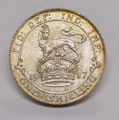 United Kingdom - Shilling 1917 George V - silver