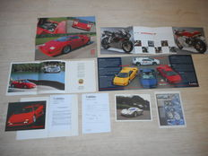 Lamborghini (2x), Lotus, MV Agusta brochures. 1993 to 2007