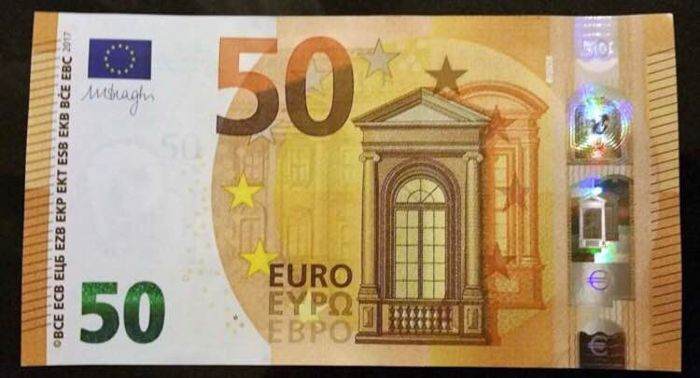 european union netherlands new edition 50 euros 2017 draghi white stripe on the back. Black Bedroom Furniture Sets. Home Design Ideas
