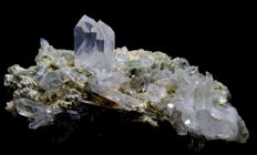 Large Terminated Green Chlorite included Quartz Crystal Cluster - 150 x 77 x 65 mm - 473gm