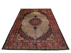 Fabulous hand-made Persian rug  Moud wool and silk 305 x 207 cm c. 1980!!!