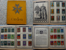 "Collection album ""Orden"" - a collection of the most famous German medals and awards Complete! -56 pages, with 287 mounted images - 1933"