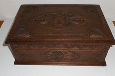 Carved sewing box