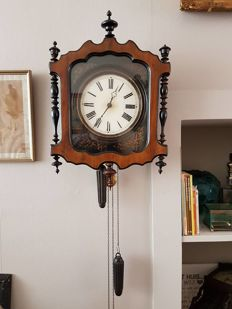 Antique Schwartzwalder Biedermeier-styled wall clock - 1880/1890