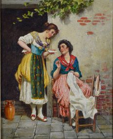 F Andreotti (19th century) - The love letter.