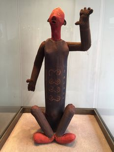 Very nice and large original funerary Doll in fabric - BWENDE - Former Belgian Congo
