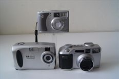 Lot of 3 HP digital cameras: 735, 618, 215